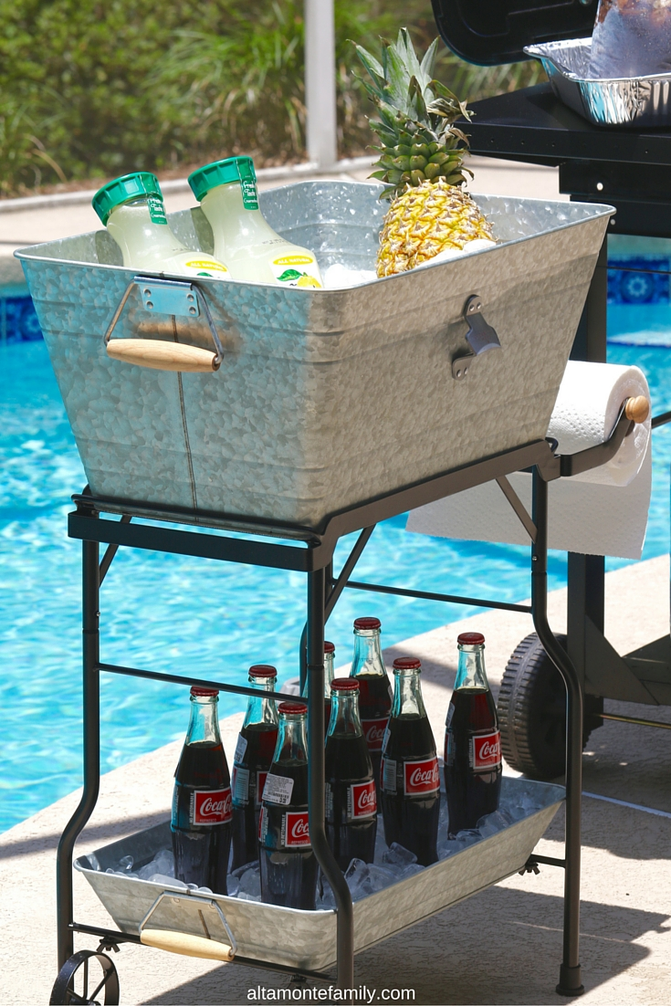 Beverage Cart with Bottle Opener