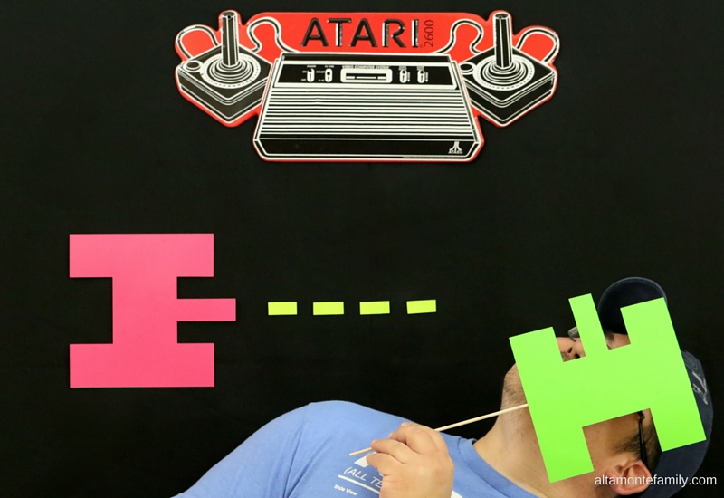 DIY Photo Booth Atari Game Night 80s Party Theme