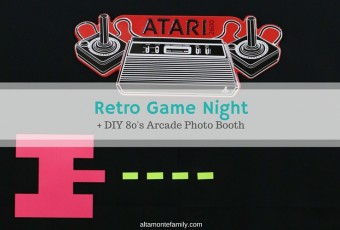 Retro Game Night Party & DIY 80's Arcade Photo Booth