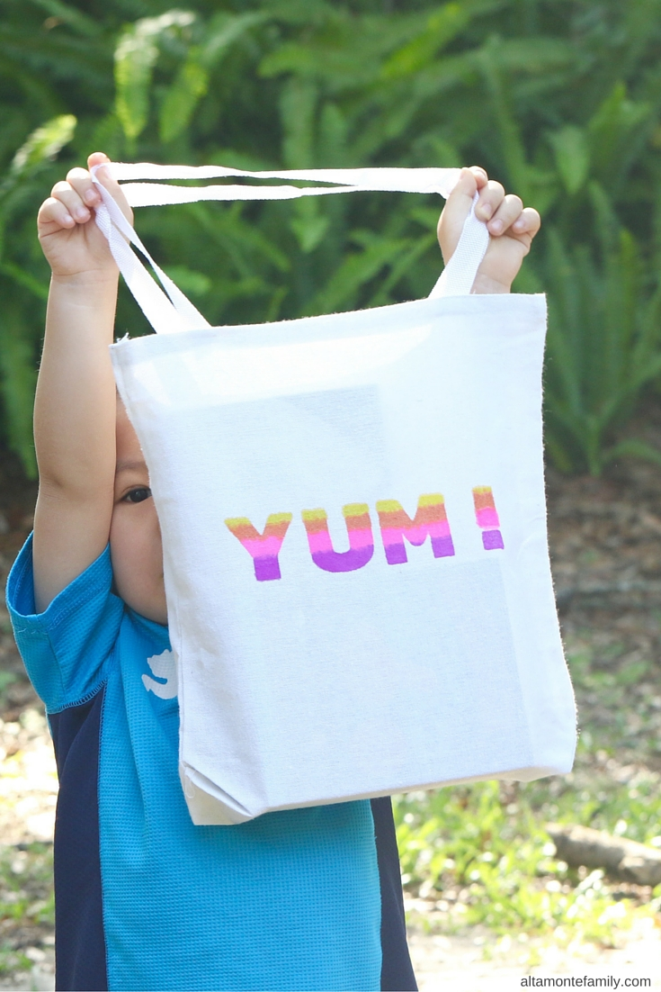 DIY Snack Tote Bag - Cricut Explore Projects for Kids