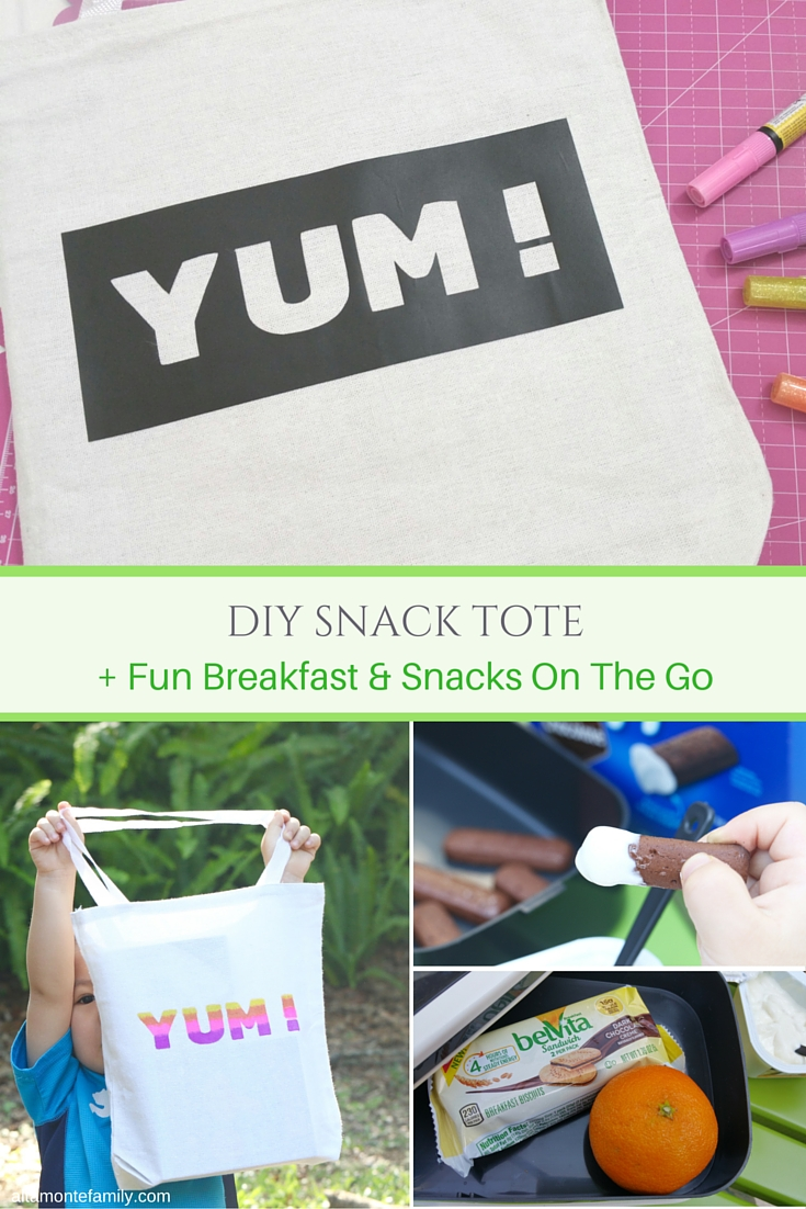 DIY Snack Tote Tutorial - Breakfast and Snack Ideas On The Go