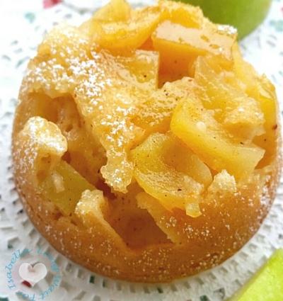 Easy Apple Cinnamon Upside Down Cake - Hungry Friday Dessert Recipe