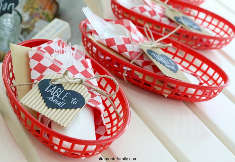 Farm To Table BBQ Table Setting and Place Card Holder