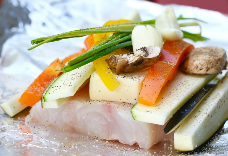Florida Red Snapper Seafood Foil Packet - Grilling Ideas