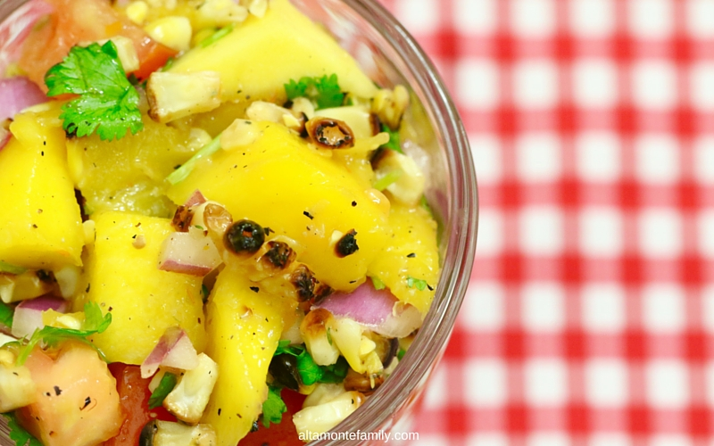 Grilled Sweet Corn and Mango Salsa