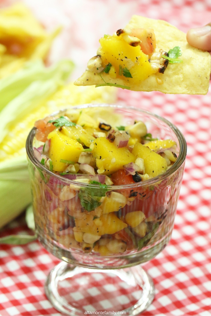 Grilled Sweet Corn Mango Salsa Recipe - Fresh From Florida