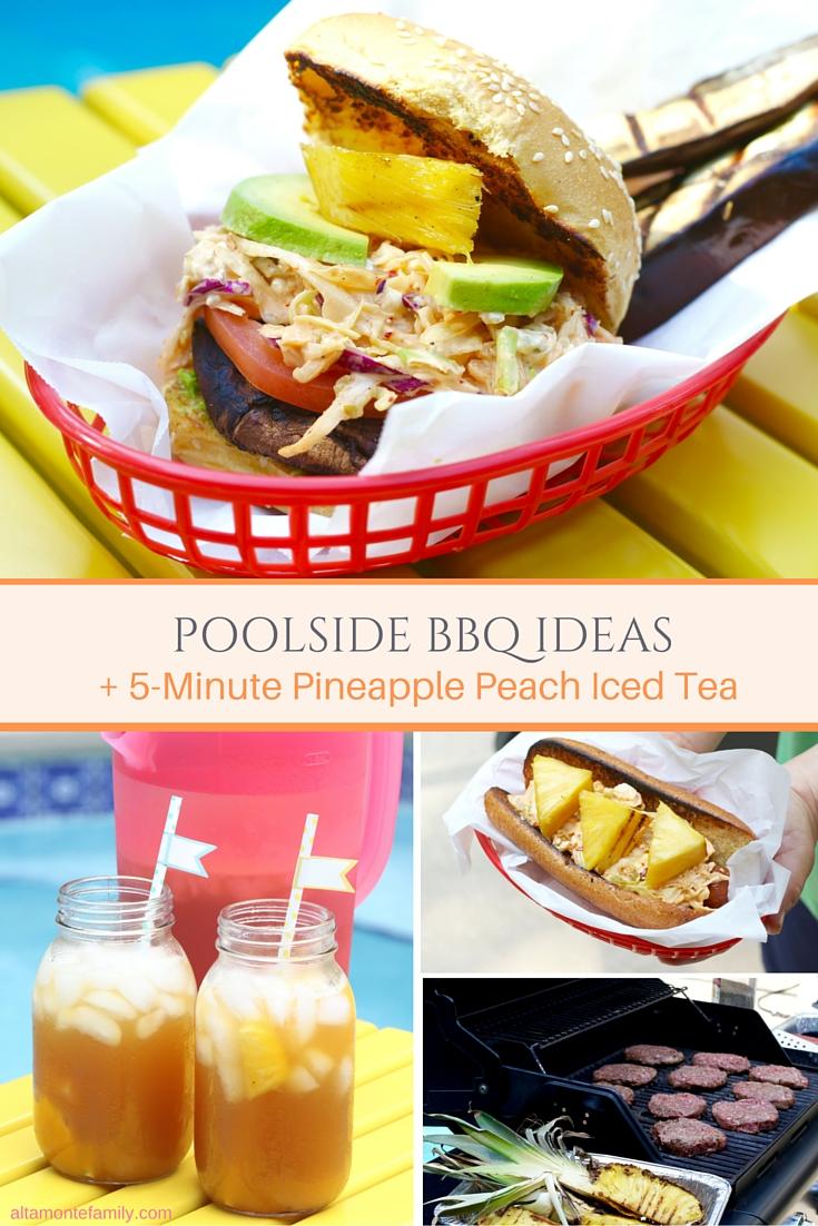 Poolside BBQ Ideas - Pineapple Peach Iced Tea Drink