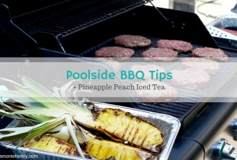 Poolside BBQ Tips + 5-Minute Pineapple Peach Iced Tea