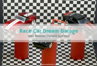 Kids' Race Car Dream Garage With Remote-Control Lighting