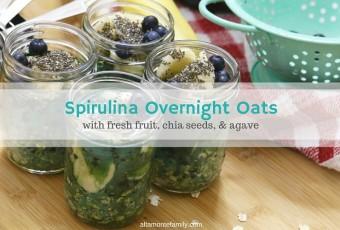 Spirulina Overnight Oats