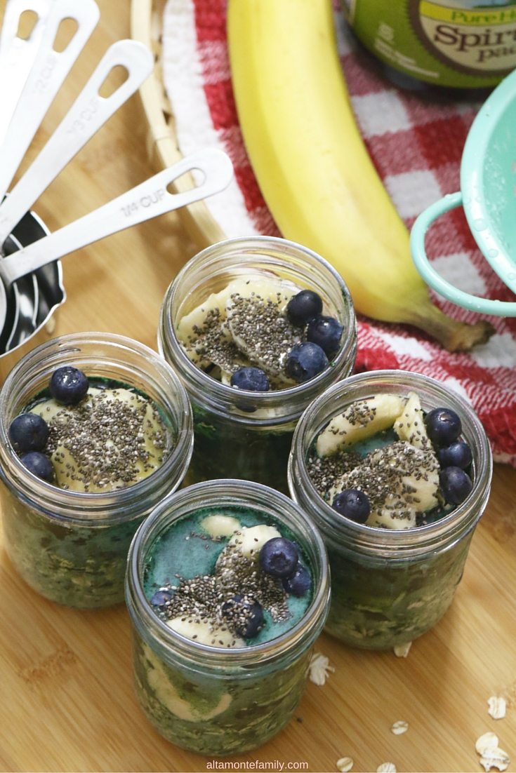 Spirulina Overnight Oats Recipe