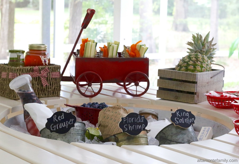 Summer Cookout BBQ Party Ideas - Seafood Foil Packets