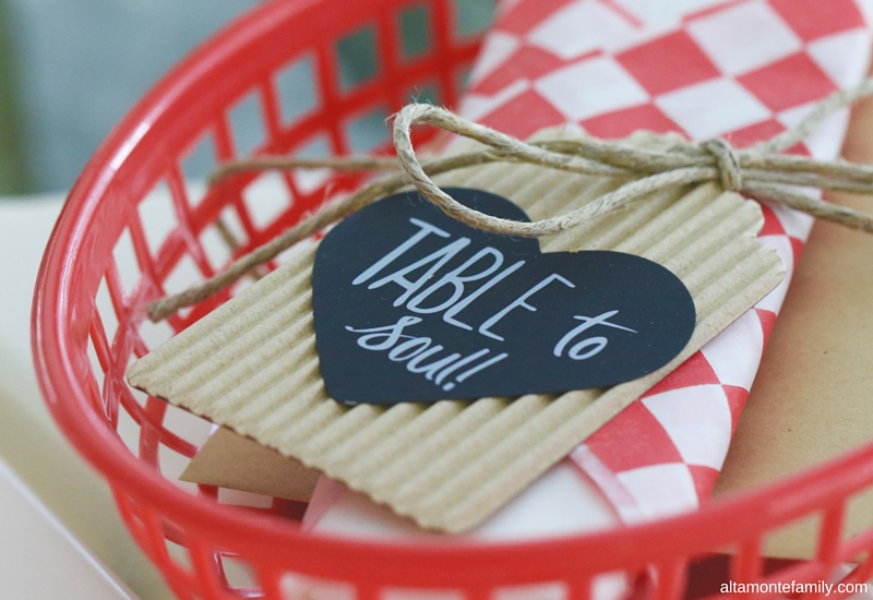 Summer Cookout Ideas - Place Card Holder