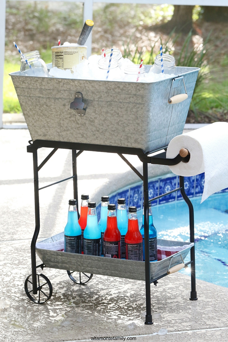 Summer Pool Party Ideas - Beverage Cart