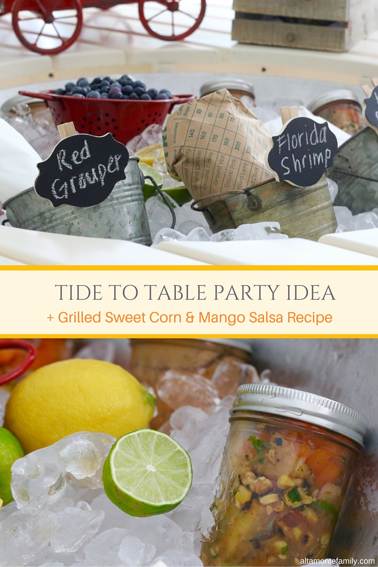 Tide To Table Party Ideas - Seafood Foil Packets - Tropical Salsa Recipe