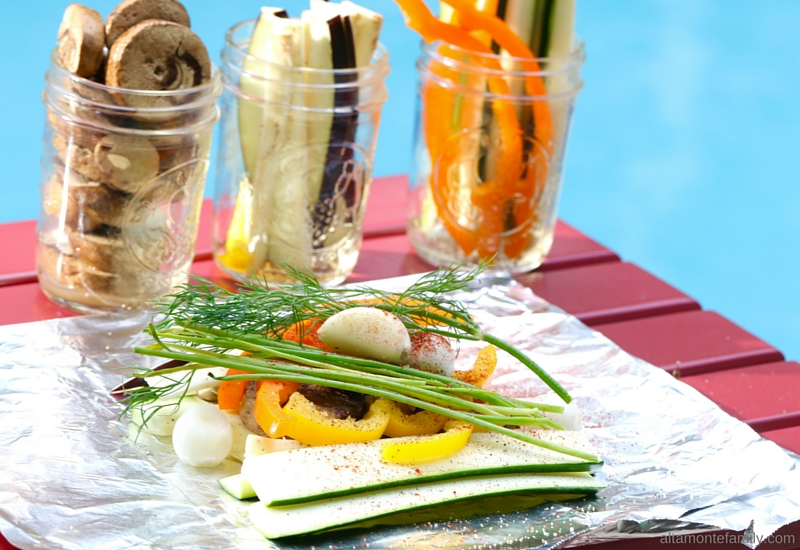 Vegetarian Foil Packet - Summer Party Grilling Ideas