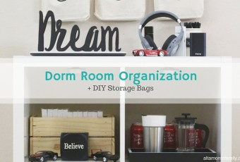 College Dorm Room Organization + DIY Storage Bags