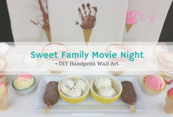 DIY Handprint Wall Art + A Sweet Family Movie Night