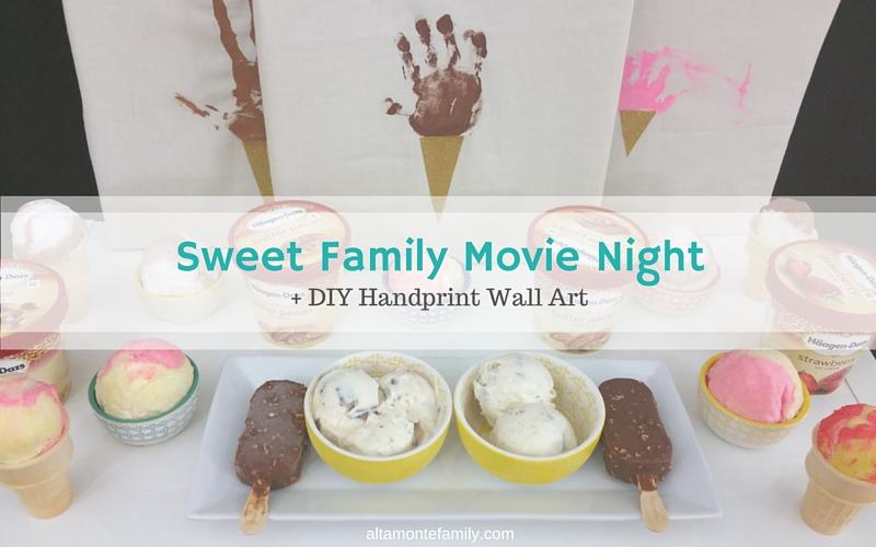 DIY Handprint Wall Art + A Sweet Family Movie Night