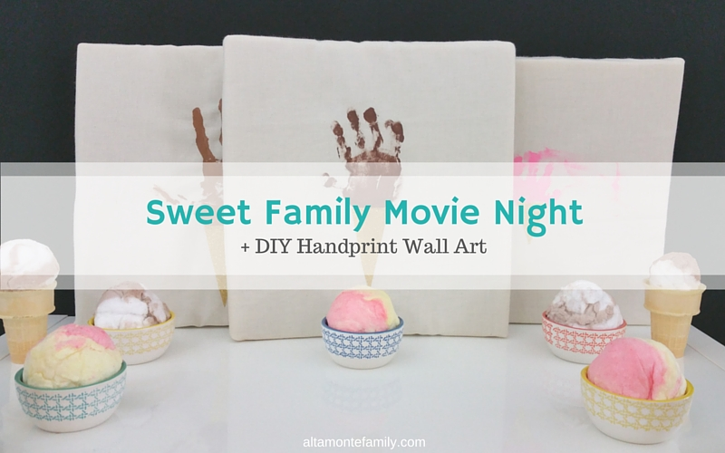 DIY Handprint Wall Art for Kids - Family Movie Night