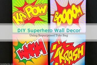 DIY Superhero Wall Decor Foamology Craft Ideas
