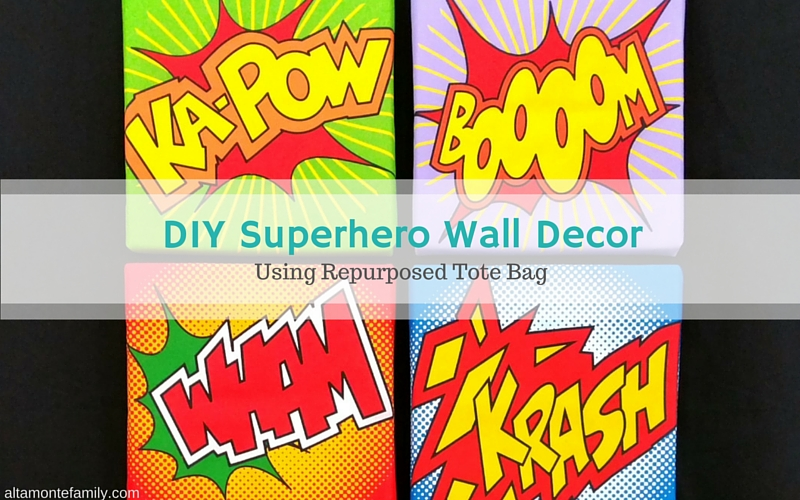 DIY Superhero Wall Decor Foamology Craft Ideas