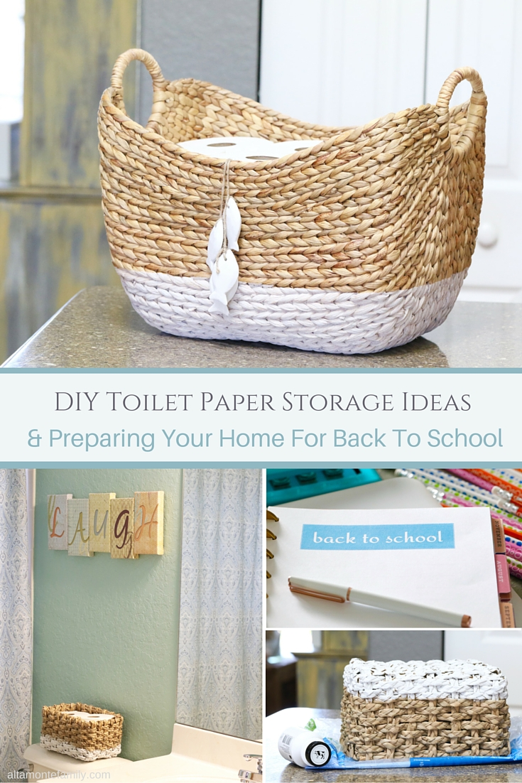 Diy Toilet Paper Storage Preparing Your Home For Back To School