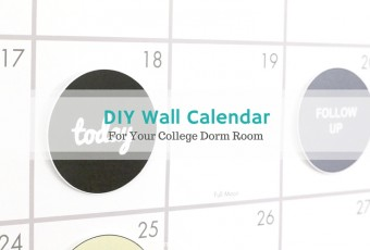 DIY Wall Calendar For Your Dorm Room