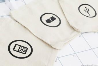 DIY Tech Storage Bags