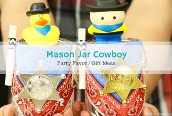 Cowboy Mason Jar Gift Idea