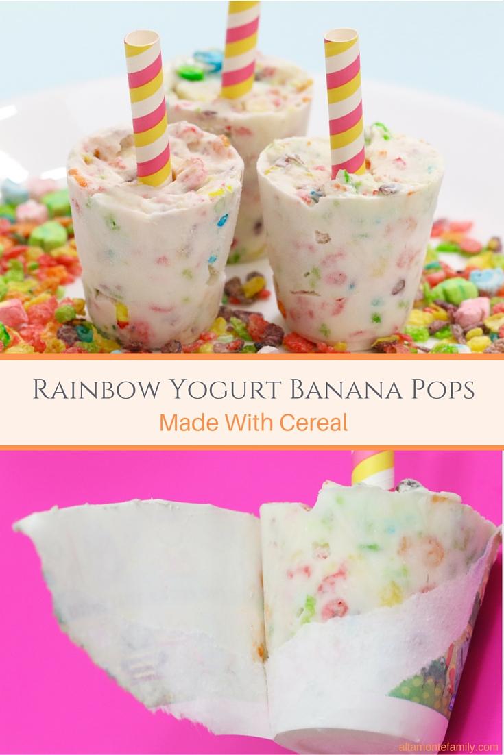 Rainbow Yogurt Banana Pops Recipe