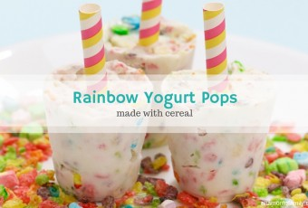 Rainbow Yogurt Banana Pops