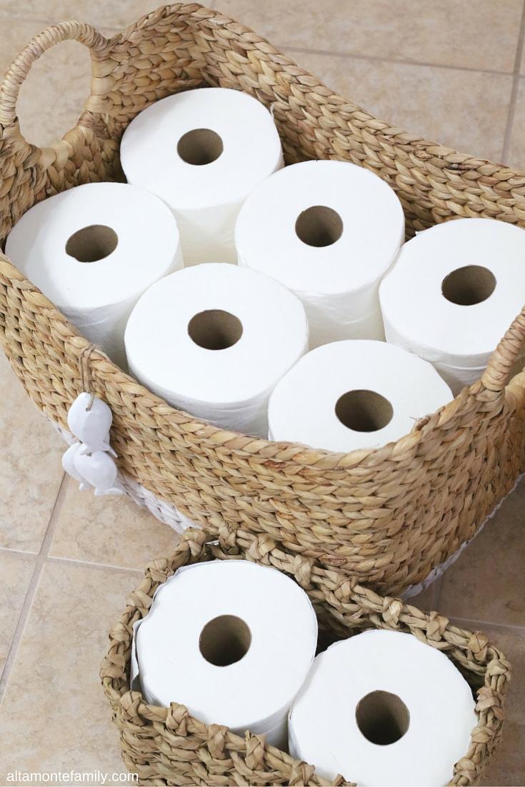 Charming Toilet Paper Storage Basket Ideas