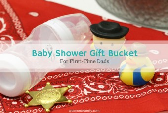 Cowboy Baby Shower Gift Bucket For New Dads