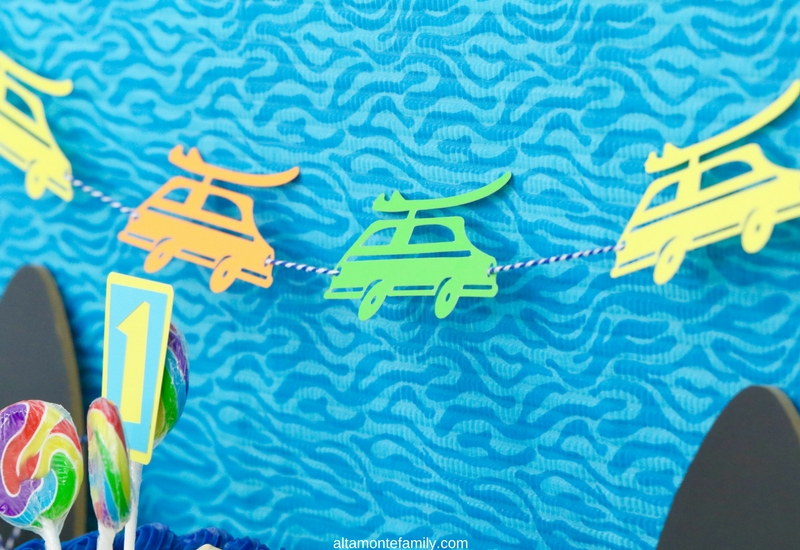 Cricut Explore Birthday Party Ideas for Boys - Surfer Beach Theme