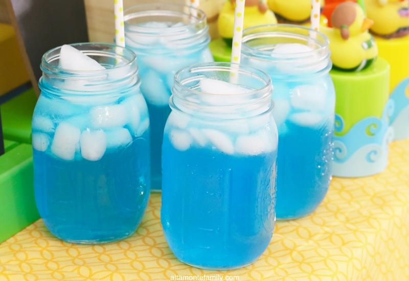 First Birthday Party Ideas for Boys - Surfer Beach Theme Drinks