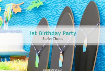 Our Son's First Birthday Party {Surfer Theme}