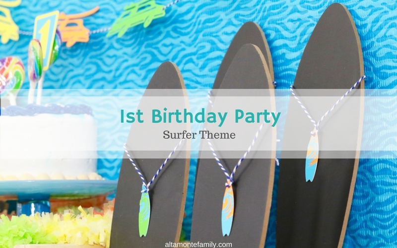 our son u0026 39 s first birthday party  surfer theme