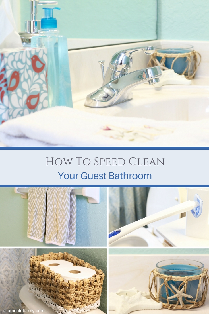 Tips and Tricks for Speed Cleaning Your Guest Bathroom