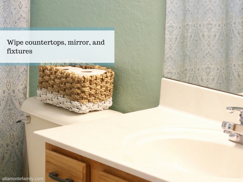 How To Speed Clean Guest Bathroom - Hostess Tips