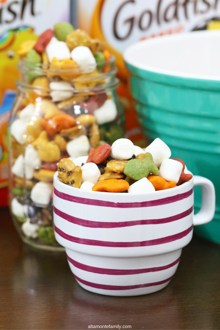 Rainbow Rocky Road Snack Mix Goldfish Crackers Recipe