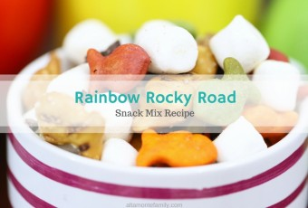 Rainbow Rocky Road Snack Mix