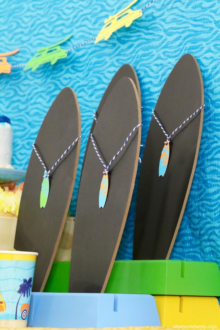 Surfer Birthday Party Ideas - Boys Beach Theme