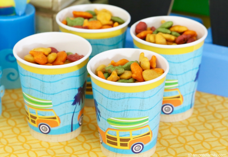 Surfer Birthday Party Snack Ideas - Surfer Beach Theme