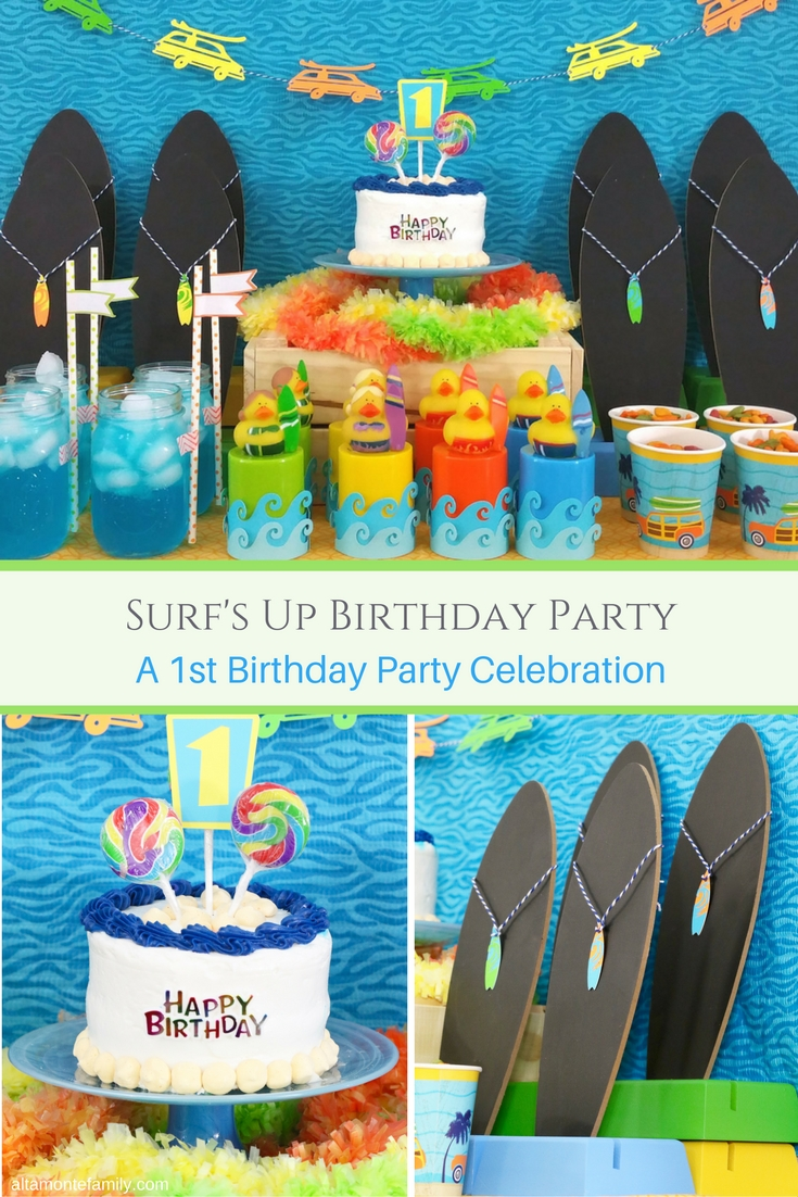 Surfs Up Birthday Party Ideas For Boys