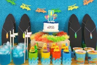 DIY Surfer Party Decor