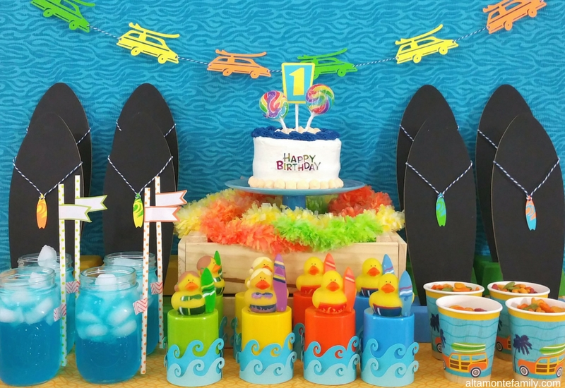 Surfs Up Birthday Party Ideas - Beach or Pool Party