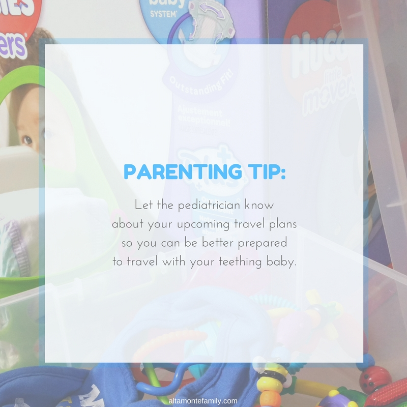 Traveling With Teething Baby - Tips