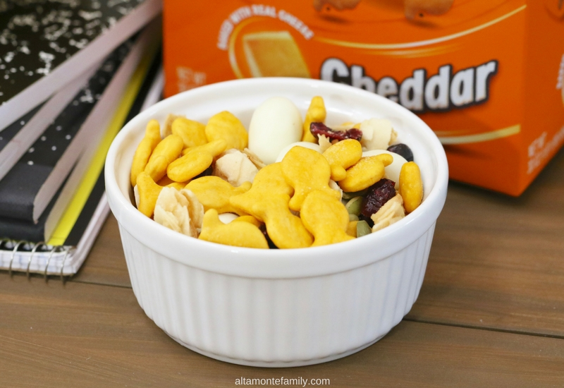 Back To School Snack Ideas - Yogurt Almond Trail Mix - Goldfish Crackers Recipe