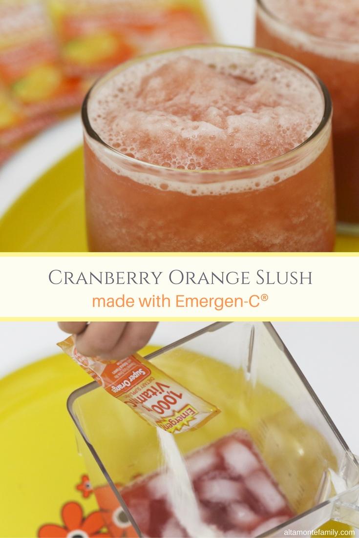 Cranberry Orange Slush Recipe - made with Emergen-C